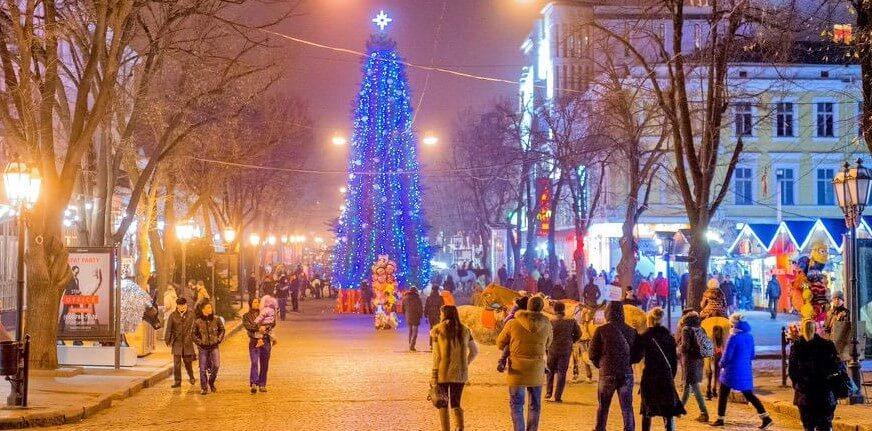 новый год в Одессе 2018